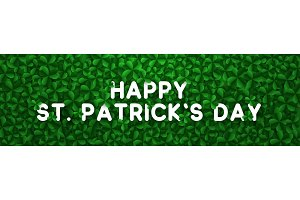 Vector background clover leaves, st Patricks day