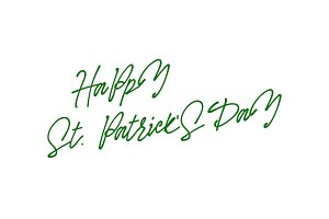 Happy st Patrick day, drawn calligraphy lettering