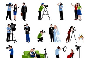 Photographer and videographer icons
