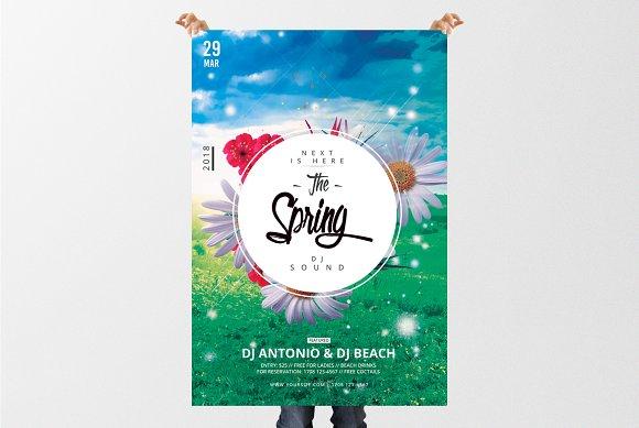The Spring 2018 Psd Flyer Template Flyer Templates Creative Market