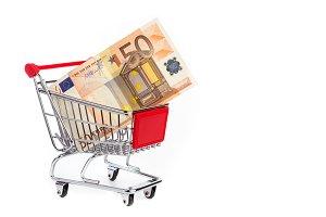 Euro in shopping cart