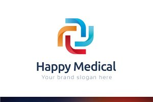 Happy Medical Logo Template