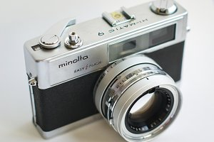 Old, retro, vintage analog camera