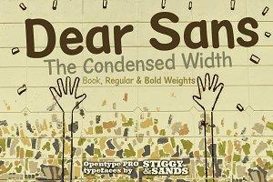 Dear Sans Condensed Family