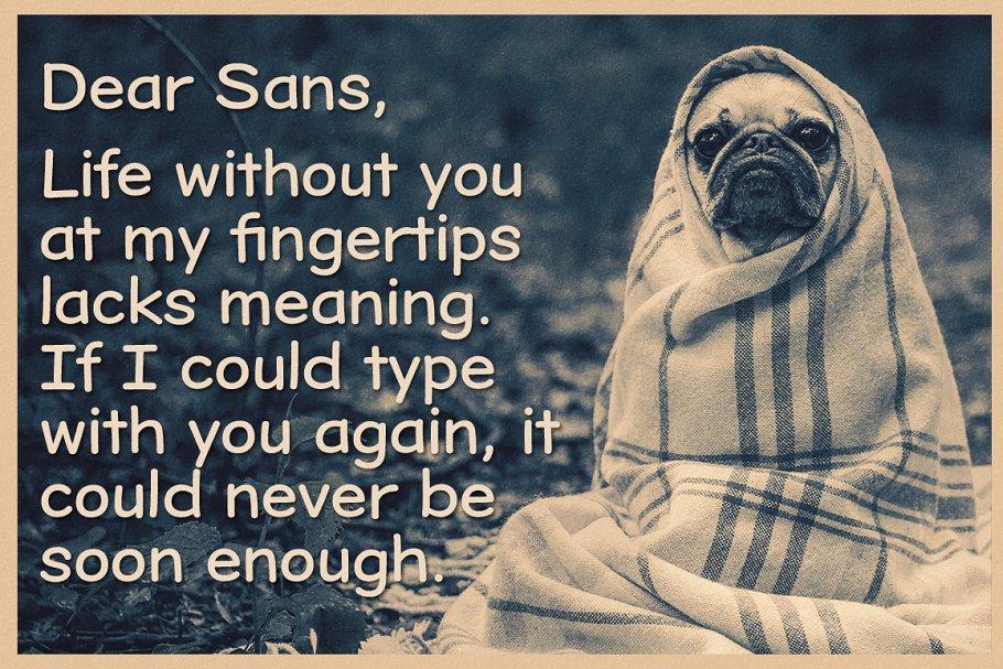 Best Dear Sans Family Vector