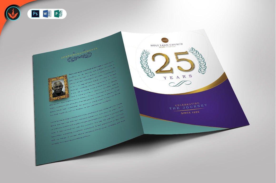 Regal Church Anniversary Program Brochure Templates