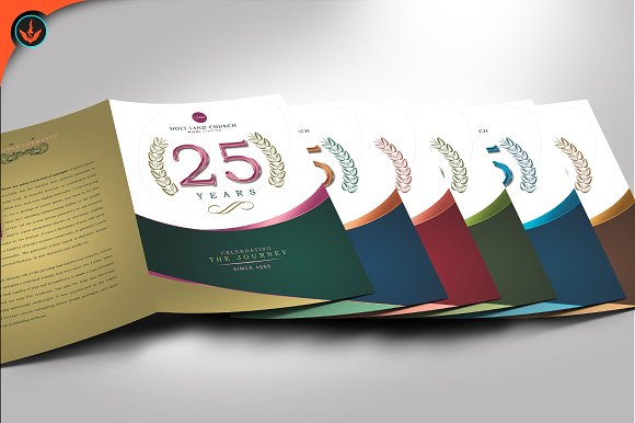 regal church anniversary program brochure templates creative market