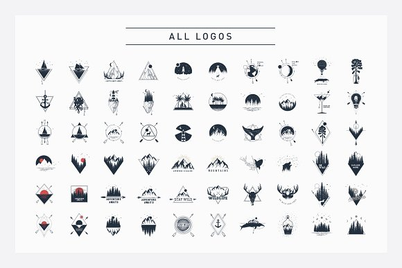 Nordicus. 60 Creative Logos in Illustrations - product preview 3