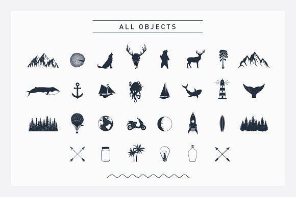 Nordicus. 60 Creative Logos in Illustrations - product preview 4