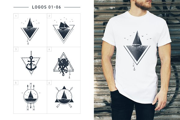 Nordicus. 60 Creative Logos in Illustrations - product preview 5