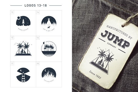 Nordicus. 60 Creative Logos in Illustrations - product preview 7