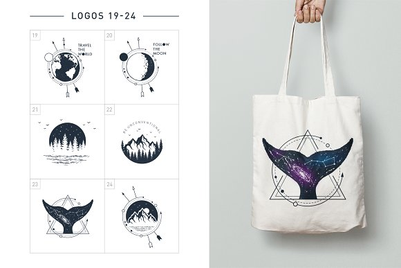 Nordicus. 60 Creative Logos in Illustrations - product preview 8