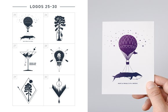 Nordicus. 60 Creative Logos in Illustrations - product preview 9
