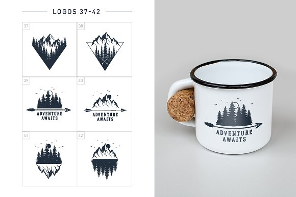 Nordicus. 60 Creative Logos in Illustrations - product preview 11