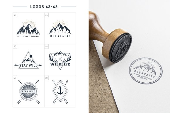 Nordicus. 60 Creative Logos in Illustrations - product preview 12