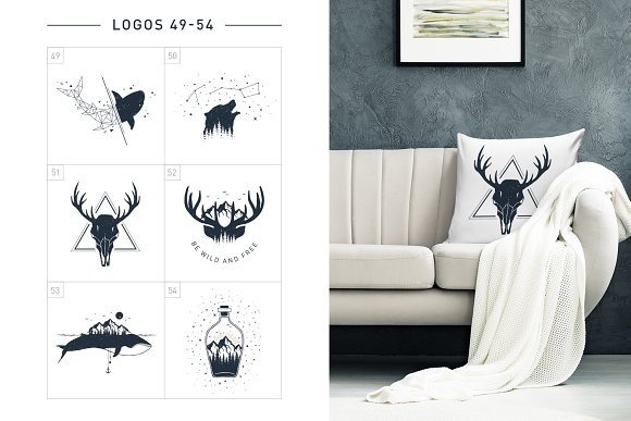 Nordicus. 60 Creative Logos in Illustrations - product preview 13