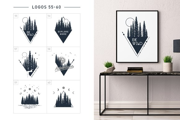 Nordicus. 60 Creative Logos in Illustrations - product preview 14
