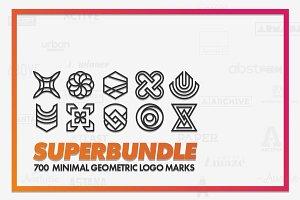 Minimal Geometric Logo Marks Bundle