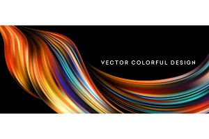 3d Abstract colorful fluid design. Vector illustration
