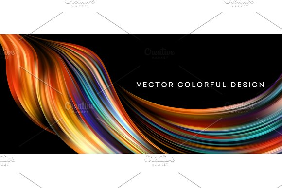 3D Abstract Colorful Fluid Design Vector Illustration