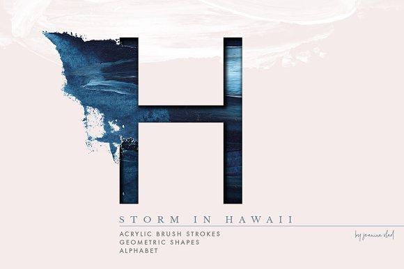 Storm In Hawaii Acrylic Alphabet