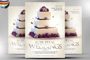 Wedding PSD Flyer Template