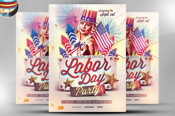 Labor Day PSD Flyer Template in Flyer Templates