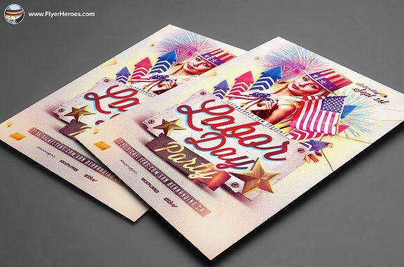 Labor Day PSD Flyer Template in Flyer Templates - product preview 3