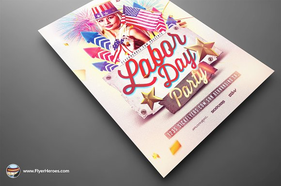 Labor Day PSD Flyer Template in Flyer Templates - product preview 1