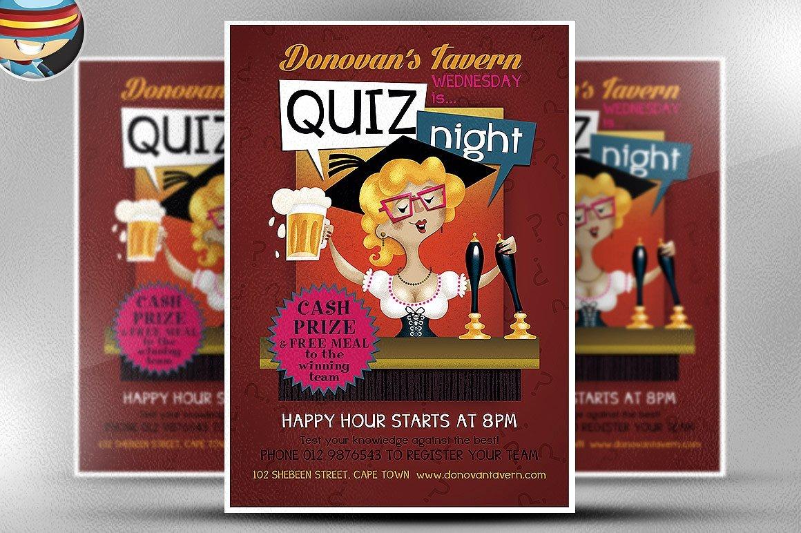 Pub Quiz Flyer Template ~ Flyer Templates ~ Creative Market