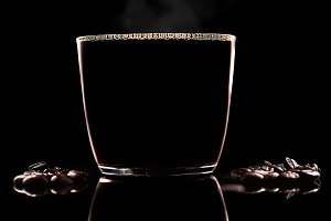 Freshly poured Organic black Coffee