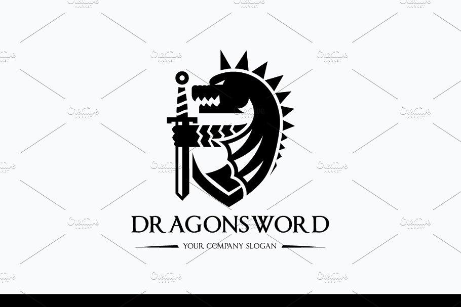 Dragon Sword Logo ~ Logo Templates ~ Creative Market