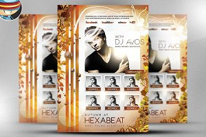 Autumn Club Flyer Template