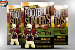 Football Sundays Flyer Template 2