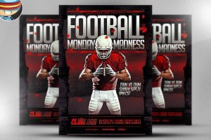 Football Monday Madness Flyer