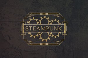 12 Steampunk Badges & Cogs