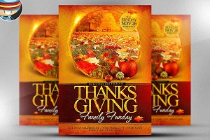 Thanksgiving Funday Flyer Template