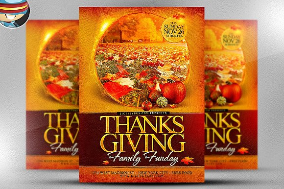 Thanksgiving funday flyer template flyer templates creative market thanksgiving funday flyer template flyers pronofoot35fo Image collections