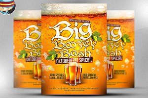Big Boozey Bash Flyer Template