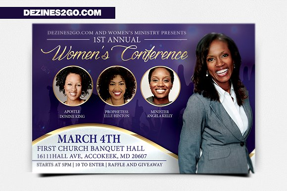 women s conference flyer template flyer templates creative market