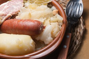 Galician stew, a typical Spanish dis