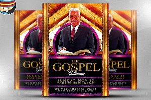 Gospel Gathering Flyer Template