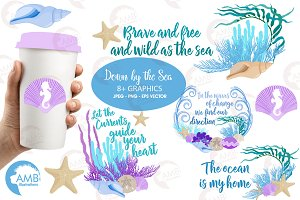 Coral reef, sea clipart,, AMB-2342