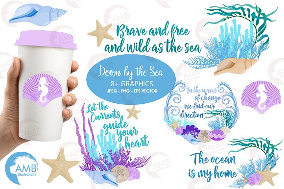 Coral Reef Sea Clipart AMB-2342