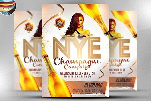 NYE Champagne Campaign Template