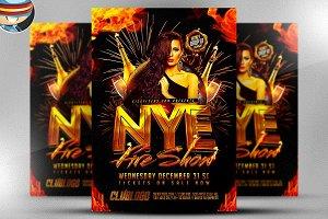NYE Fireshow Flyer Template