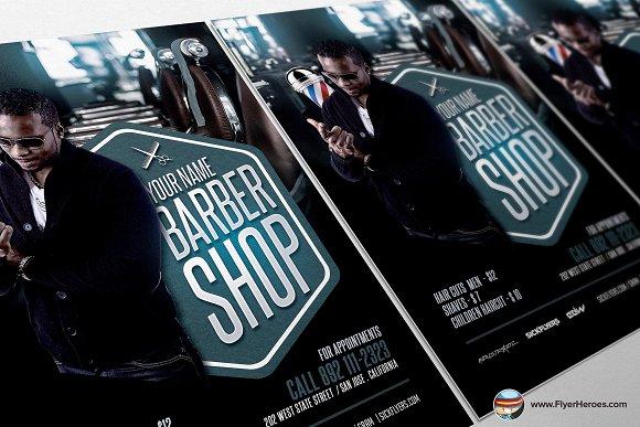 Barbers Shop Flyer Template Flyer Templates Creative Market