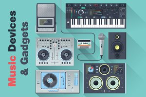 Music Devices & Gadgets Icons