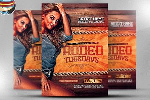 Rodeo Tuesday Flyer Template