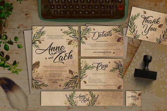 Leaves Wedding Invitation